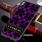 New 7Coach92Gold Purple Cover iPhone7 8 X XR XS XS Max Samsung Galaxy S7 8 9Case