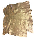 Gold Leather Hides Genuine Lambskin Skins Soft Metallic Thin Craft Material F773