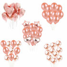 Rose Gold Confetti Balloon Set Star Latex Foil Heart Birthday Wedding Party