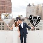 Heart-Shaped Bride Groom Aluminum Balloons Wedding Dress Married Valentine Party