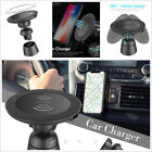 Car Wireless Charger Magnetic Connect Air Vent Mount Holder For iPhone X Samsung