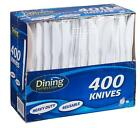 DINING COLLECTION 400-piece Disposable Plastic Knive Set, White 400