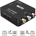 RCA To HDMI, GANA 1080P Mini RCA Composite CVBS AV To HDMI Video Audio Adapter