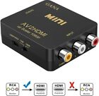 RCA To HDMI, AV To HDMI,GANA 1080P Mini RCA Composite CVBS AV To HDMI Video USB