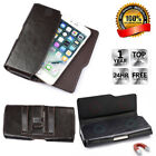 Real Leather Belt Clip Holster Pouch Case Cover For iPhone Samsung Cell Phone