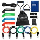 TOMSHOO 17Pcs Resistance Bands Set Workout Fintess Exercise For Gym Travel H1P7