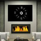 Mirror Surface Large Number Wall Clock Stickers Modern Home Office 3D Decor HOT