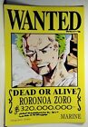 "Anime One Piece Pirates Wanted Poster 16.5"" x 11.25 Inchs"