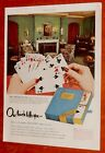 BEAUTIFUL 1950 CONGRESS PLAYING CARS GAME OF CANASTA AD - VINTAGE 50S AMERICAN