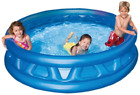 Inflated Soft Side Pool, Inflatable Above Ground Swimming Pool For Kids, 74x18