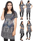 "UK STOCK - WOMEN FASHION INDIAN KURTI TUNIC TOP 41B (Bust 46"" Dress 50"" 5XL)"