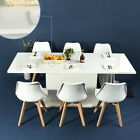 6 PCS Dining Chairs/Expandable Wooden Table Modern Dining Room Furniture for 4-8