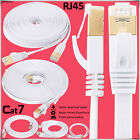 White Cat7 RJ45 10Gbps Flat Ultra-Thin Network Ethernet Patch Cable - Buy in LOT