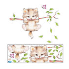 cat butterfly tree wall stickers for kids