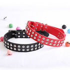PU Faux Leather Synthetic Jewel Collar Dog XS S M Adjustable