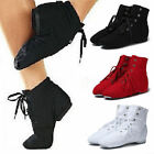 Внешний вид - Unisex Mens Women Canvas Jazz Ballet Dance Shoes Lace Up Dancing Boots Gymnastic