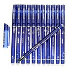 Erasable Gel Pen 0.5 Mm Tip Refill Stationery Writing Pens Slim For Student 12PC