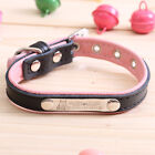 dog collar leather personalized with name plate Custom dog tags engraved ID tag