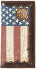 Mason Distressed American Flag Long Leather Rodeo Wallet