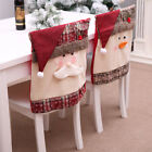 Christmas Chair Cover Santa Claus Snowman Decorations For Home Chair Back Cover