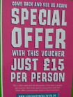 LIGHTWATER VALLEY THEME PARK VOUCHER £15 entry..Save £45!!  Up to 5 people.