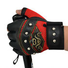 Men Gloves PU Leather Half Finger Unisex Sports Motorcycle Fingerless Gloves
