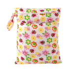 Reusable Waterproof Bags Cloth Diaper Nappy Wet Dry Zipper Bag For Toddler Baby