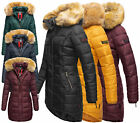 Navahoo PAPAYA Damen Jacke Winter Mantel Stepp Winterjacke warm lang Steppjacke