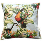 Tropical Monkey & Birds Floral WATERPROOF OUTDOOR PVC GARDEN BENCH SEAT CUSHIONS