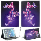 """US For 7""""-10.1"""" Tablets PC Colorful Butterfly Universal Printed PU Leather Case"""