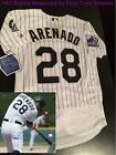 Majestic Nolan Arenado Colorado Rockies Men's Home/White 25th Anniversary Jersey