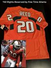Baltimore Ravens Legend Ed Reed Miami Hurricanes Mens Orange Collegiate Jersey