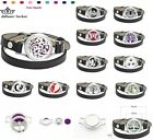 1 set Aromatherapy Stainless Essential Oil Bracelet Leather Wrap Locket Diffuser