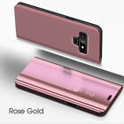 For Samsung Galaxy Note 9 Smart View Mirror Wallet Leather Flip Stand Case Cover