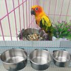 Stainless Steel Hanging Food Water Bowl For Crate Cages Pet Dog Parrot Bird
