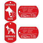 Service Dog Tags Personalized Engraved Dog Id Tag Set of 2 U