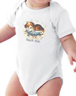 Infant creeper bodysuit One Piece t-shirt Beach Bum Puppy Dog In Shell k-682