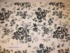 Toile French Country Contact Paper Floral Rose Black Blue Taupe Brown PreCut