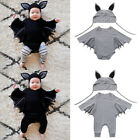 Внешний вид - Toddler Infant Baby Boys Girls bat Halloween Cosplay Costume Romper Hat Outfits