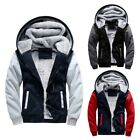 Men's Hoodie Jacket Winter Warm Thick Fleece Lined Zip Up Co