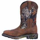 Dan Post Work Certified Men's Hunter Saddle Tan Leather  Mossy Oak Camo