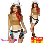 Ladies Western Wild West Costume Indian Rodeo Cowgirl Cow Girl Fancy Dress + Hat