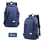 Anti-theft Men Women Laptop Notebook Backpack +USB Charging Port School Bag US