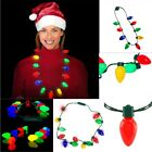 Hot LED Light Up Christmas Bulb Necklace Favors for Adults o