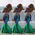 Uk Womens Adults Mermaid Tail Full Skirt Party Maxi Fancy Dress Cosplay Costume