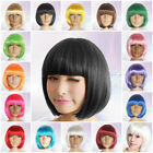 Women Ladies Girl Short Hair Wigs Bob Party Cosplay Fancy Dress Full Wig Costume