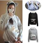 Unisex Pet Carrier Coat Dog Cat Animals Holder Pouch Pocket Hoodie Hoody Warmer