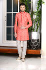 Mens Designer Traditional Bollywood Wear Wedding Indo Western Dress From India
