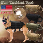 Tactical Police Dog K9 Military Vest Service Canine Nylon Service Molle Harness