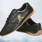 New Wushu Wing Chi Leather Shoes Black Men's Arts Martial Sports Kung Sneakers